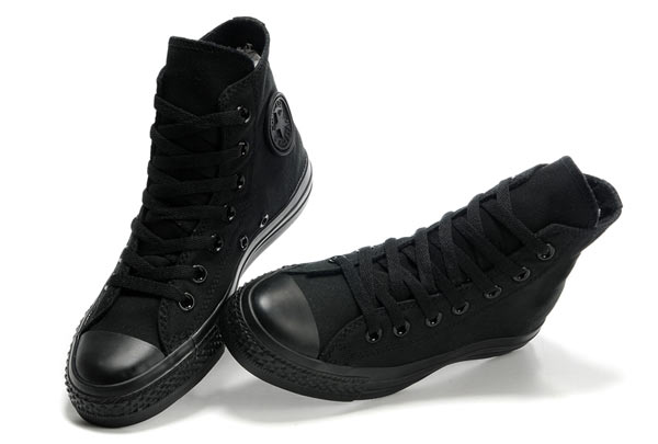 all black converse high tops womens
