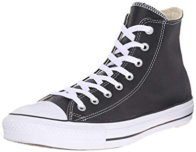 all black leather converse high tops