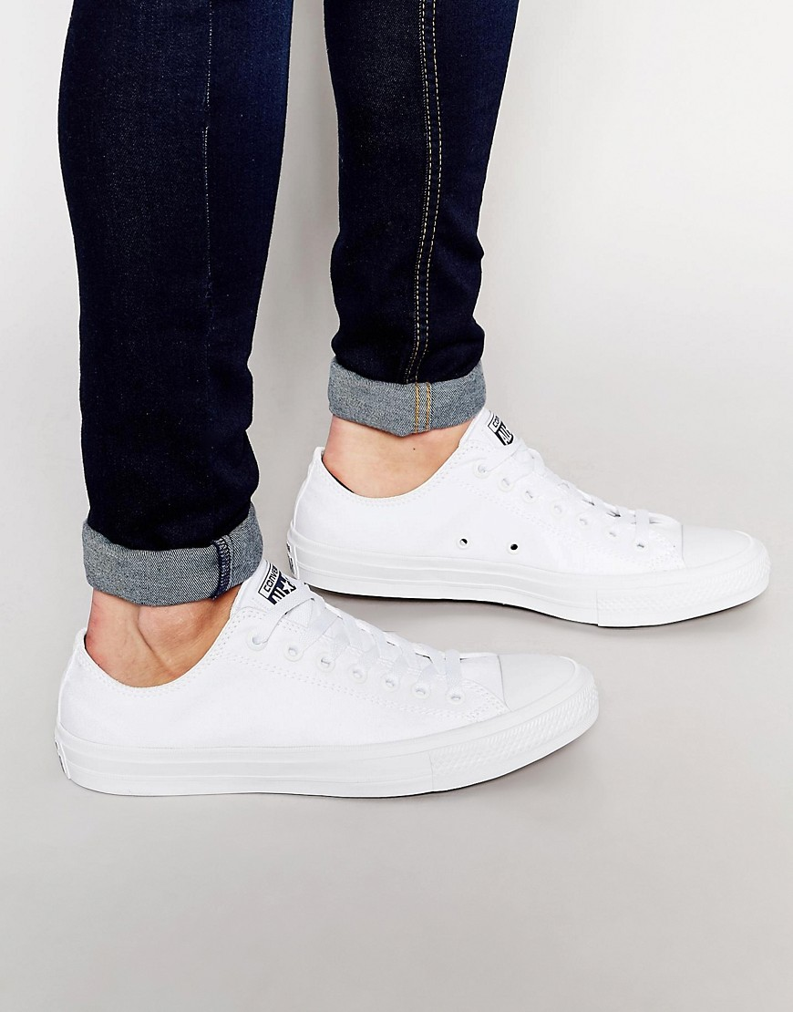 all white converse mens