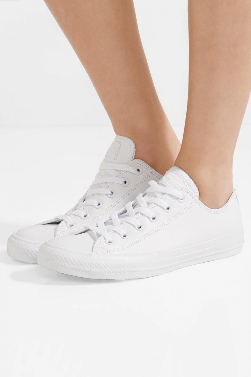 all white leather converse womens