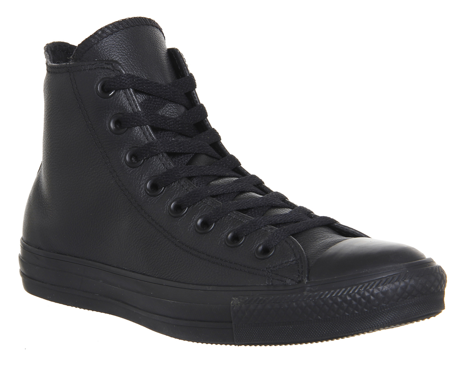 black leather converse boots