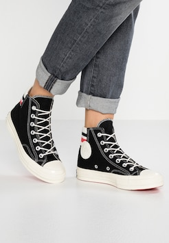black white converse high tops