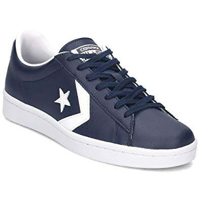 blue leather converse