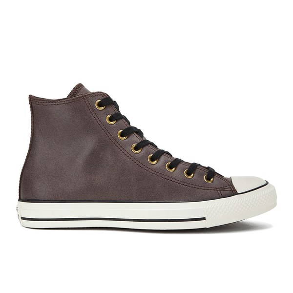 brown leather converse