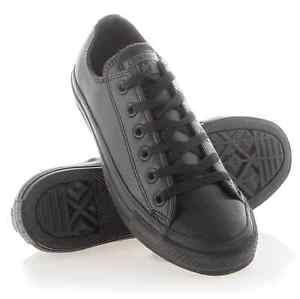 converse all star black leather