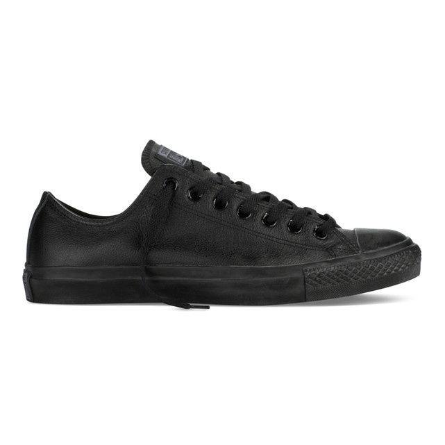 converse ox black leather