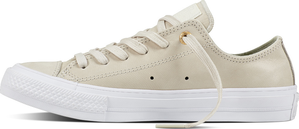 cream leather converse