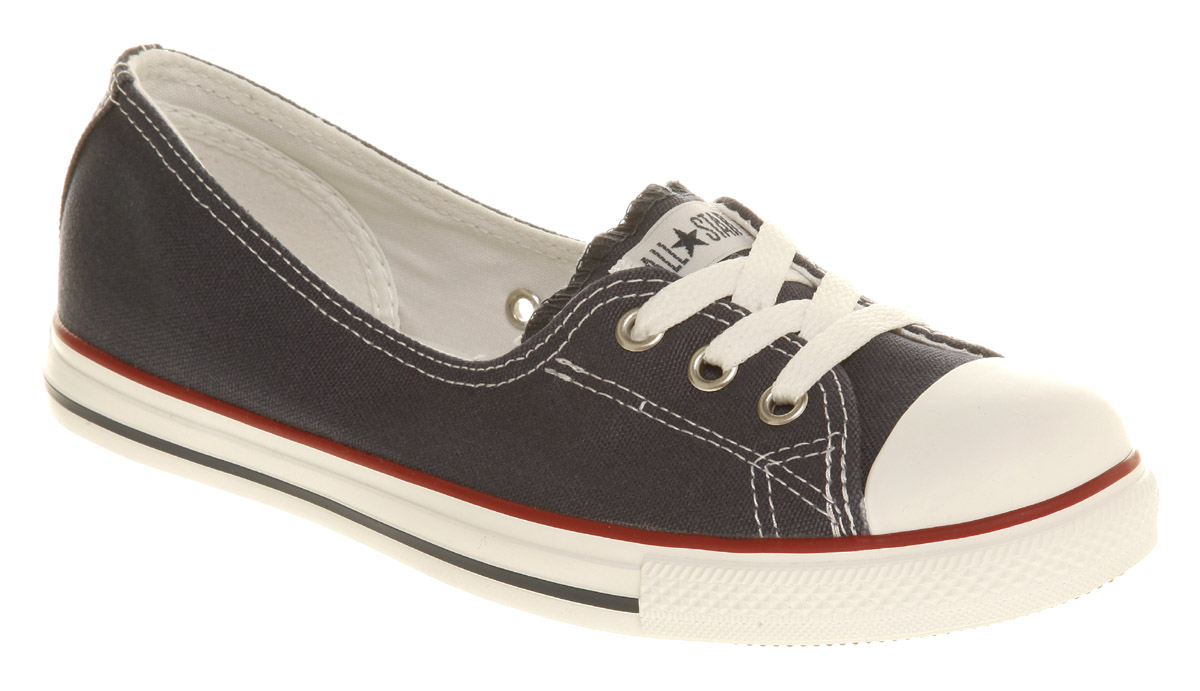 ladies black converse trainers