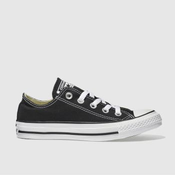ladies black leather converse