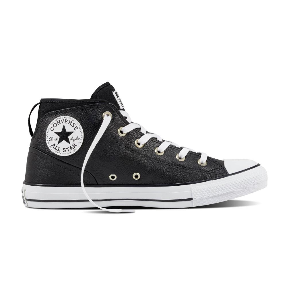 mens black and white converse