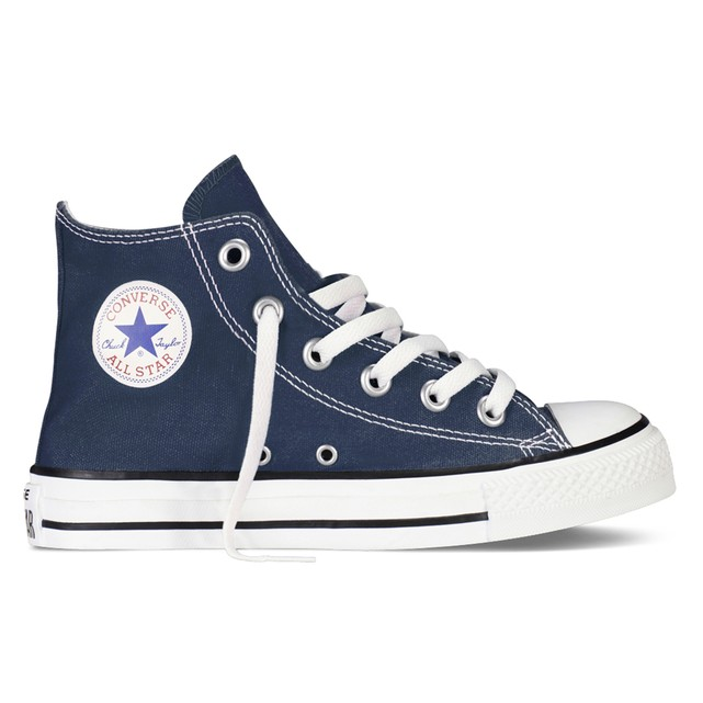 navy high top converse