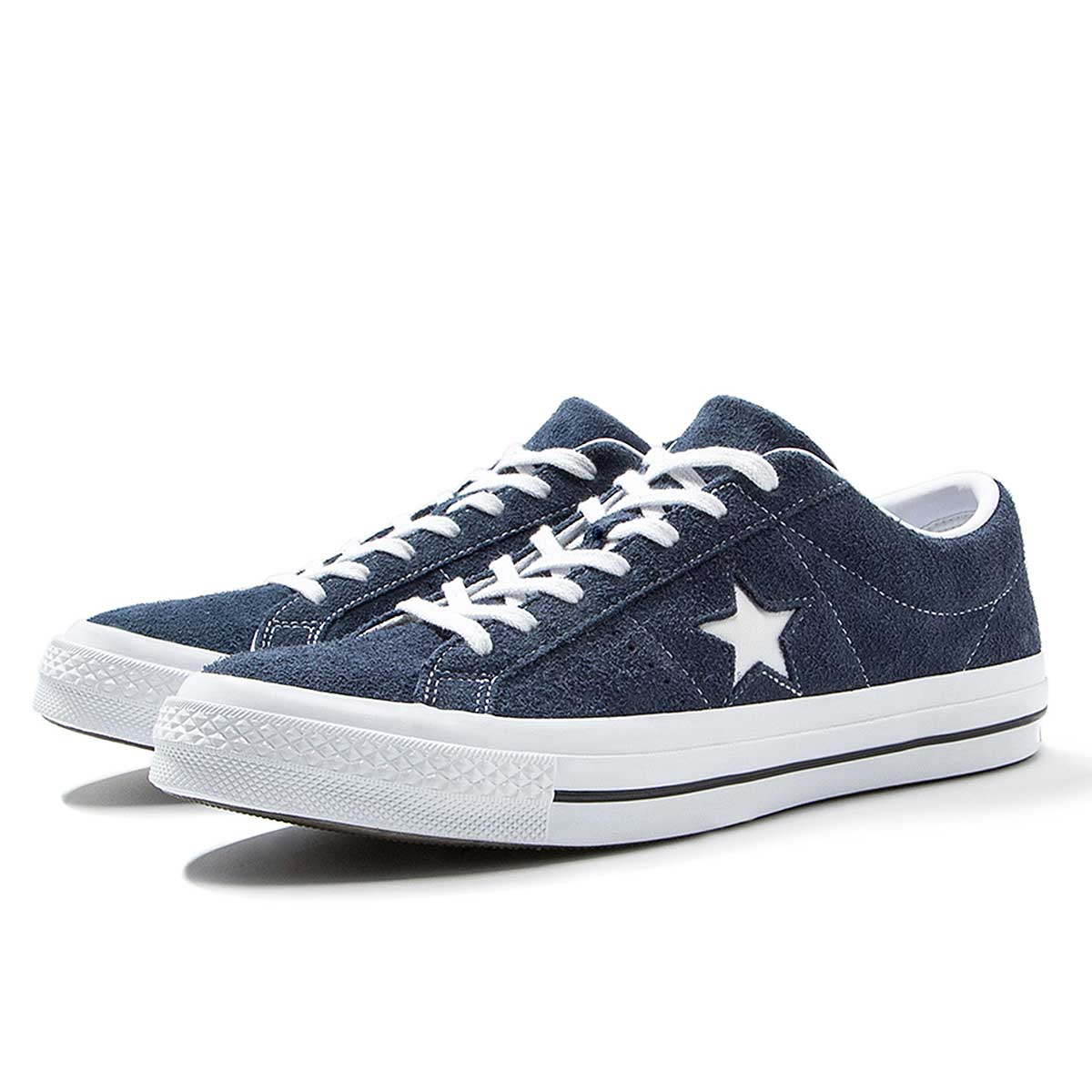 navy leather converse