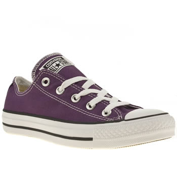 purple converse womens