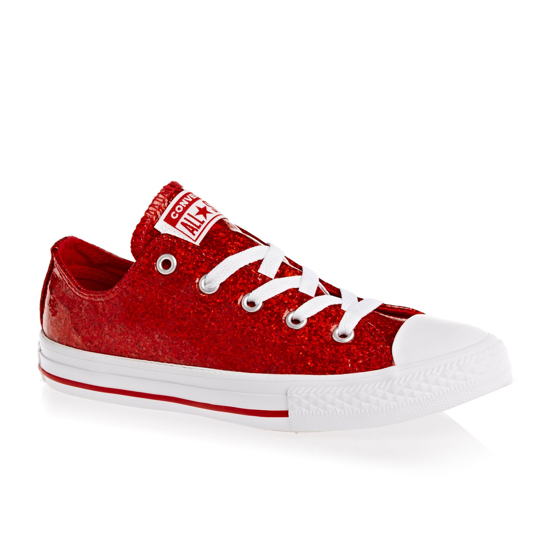 red and white converse